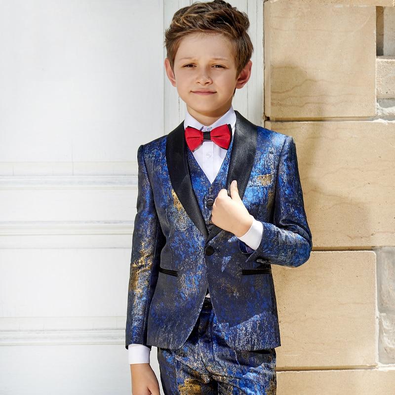 498f0810f Boys suits baby boy suit formal costume party dress suit set boys wedding  dress kids blazer suits party costume school uniform
