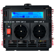 2500W/5000W LCD display UPS inverter pure sine wave 12v to 220v Inverter+Charger & UPS,Quiet and Fast Charge power supply