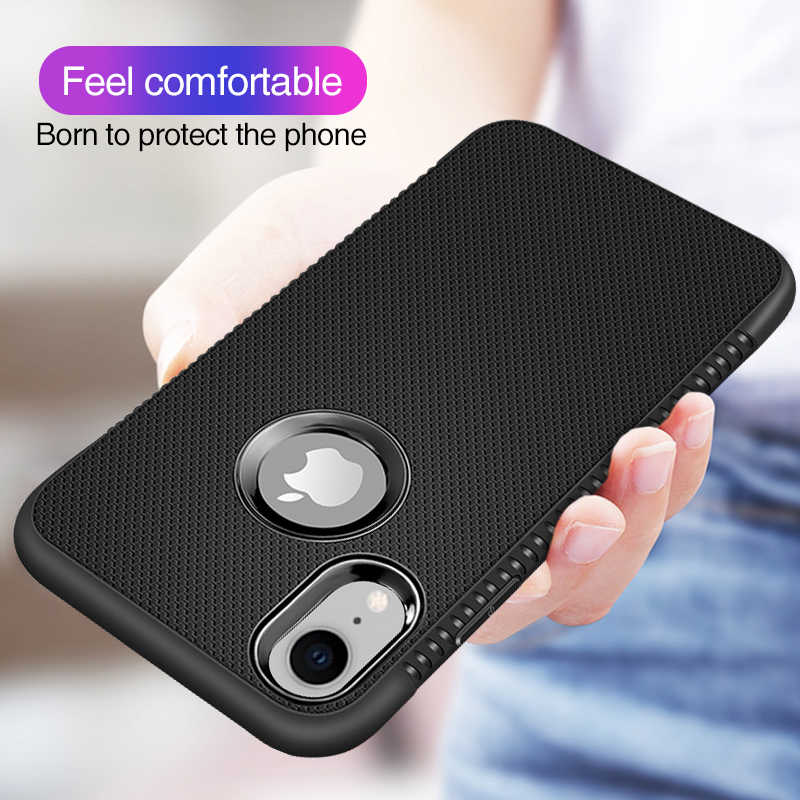 Carbon Fiber Case untuk iPhone X Max XR X Penutup Penuh Ponsel Case untuk iPhone X 8 7X6 6 S Plus Case Silikon Lembut TPU Coque Funda