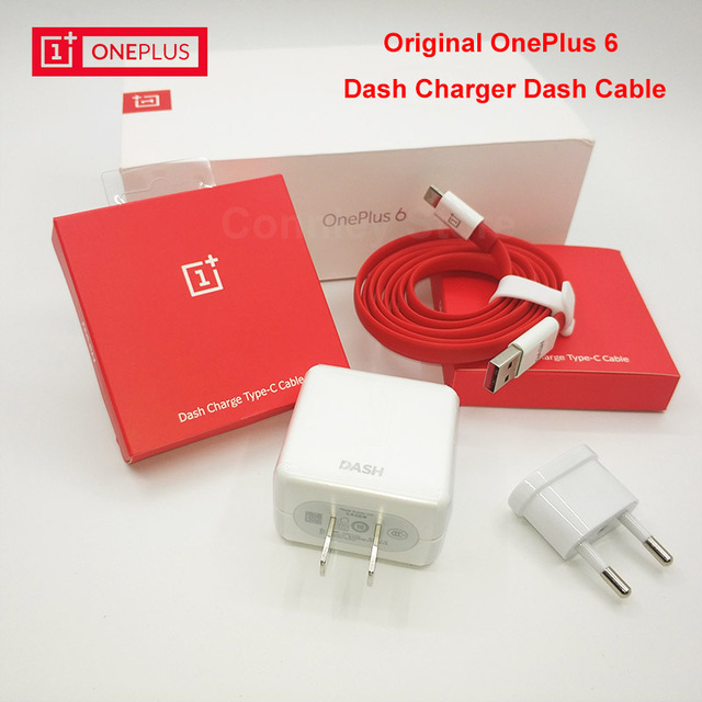 Original Oneplus 6 Dash Charger Eu Us Plug Adapter 5v 4a 1m 1 5m