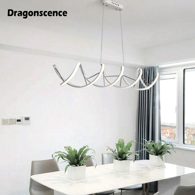 Dragonscenc Double helix DNA aluminum LED pendant light decoration hanging pendant lamp lighting for dining office meeting room
