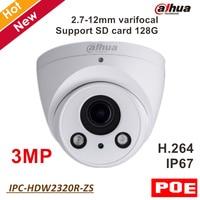 Dahua English IP Camera IPC HDW2320R ZS 3MP IR Eyeball Network Security Camera Support POE And