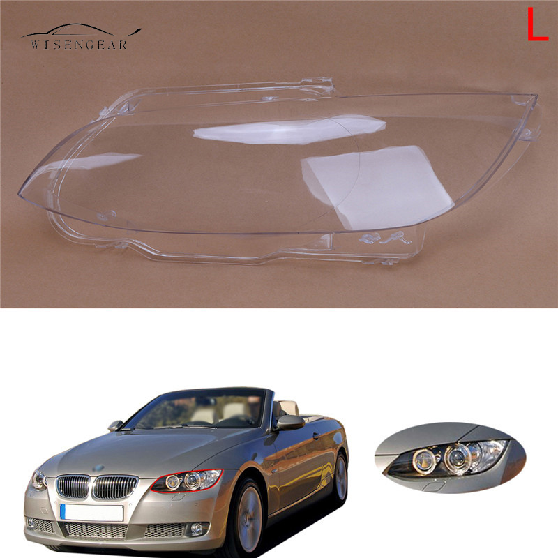 WISENGEAR 3 Series Left LED Head Light Lamp Cover Shell For BMW E92 Coupe E93 Convertible M3 2 Door Clear Lens 2006 2007 - 2010 bmw m3 e30 coupe