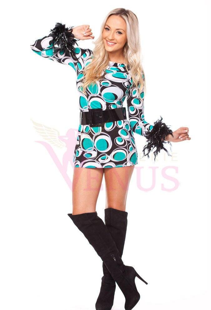 8fa2f41d04 Girls Disco Costumes & Retro Paisley Print Go-Go Girl Costume Sc 1 ...