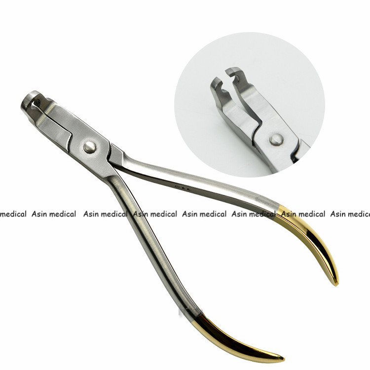 1PC Dental Bracket Remover Pliers curved End 45 degree Dental orthodontics Pliers