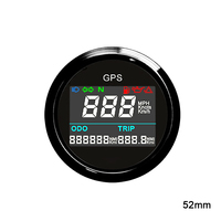 New 52 mm Digital GPS Speedometer Odometer Tachometer for a boat For cars MPH gauge Trip counter 12 V / 24 V