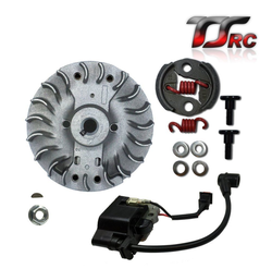 Flywheel and lgnition coil and clutch set for 1/5 HPI Baja 5B 5T 5SC rc car parts fit 23cc 26cc 29cc 30.5cc 32cc 35cc 45cc