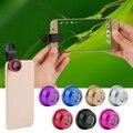 3 en 1 clip de teléfono con cámara de lente ojo de pez + gran angular + micro para iphone samsung venta caliente