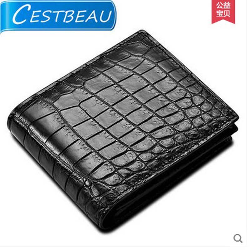 cestbeau No stitching Inside and outside crocodiles skin belly men wallet  short money bag belly skin maibomengnuo authentic crocodile skin wallet belly belly fashionable contracted men thin money clip upright money