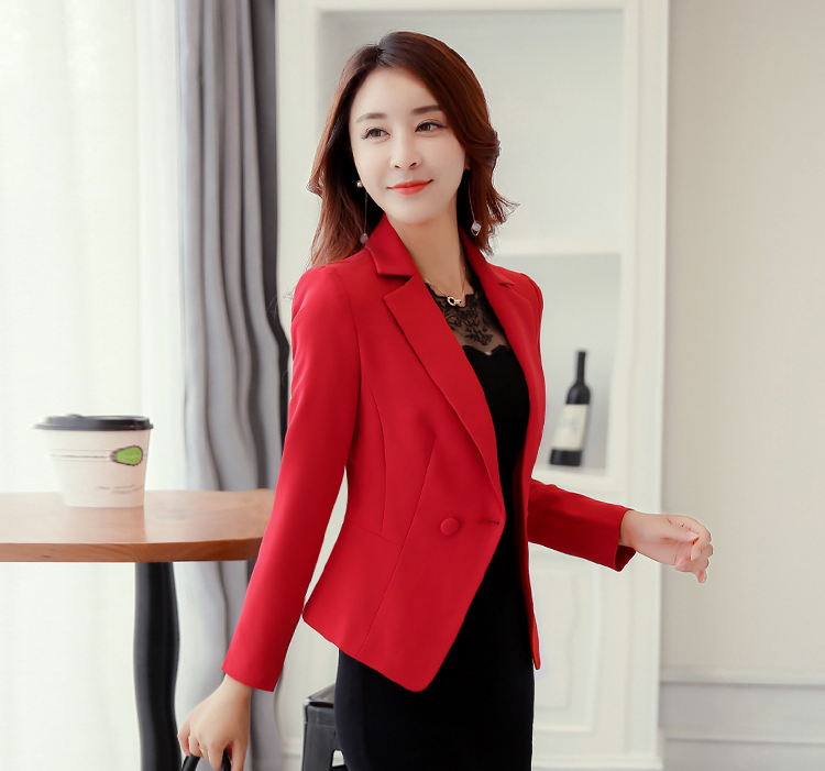 J60549 New Arrival 2018 Office Workwear Business Suit Slim Fit Small Blazer and font b Jacket
