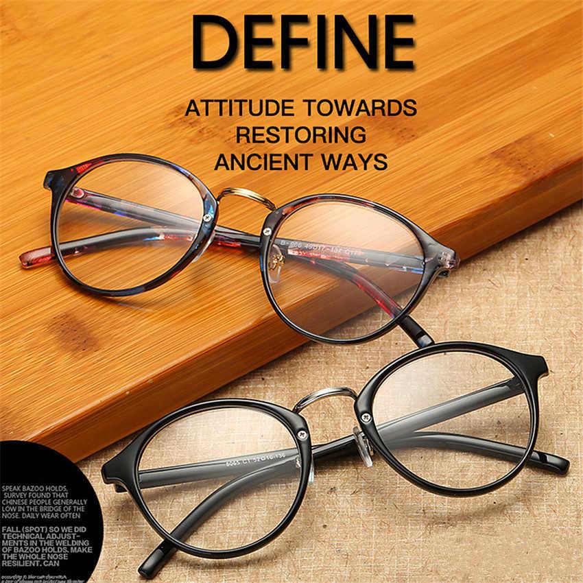 1a46257c878e ... UVLAIK Optical Glasses Frame Boston Eyeglasses Round Myopia Frames  Women Clear Transparent Glasses Women's Men's Flower ...
