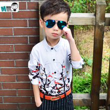 2019 Boys Blouse Shirts Spring Autumn Soft Kids Cotton Party Long Sleeves Shirt for Boy Children