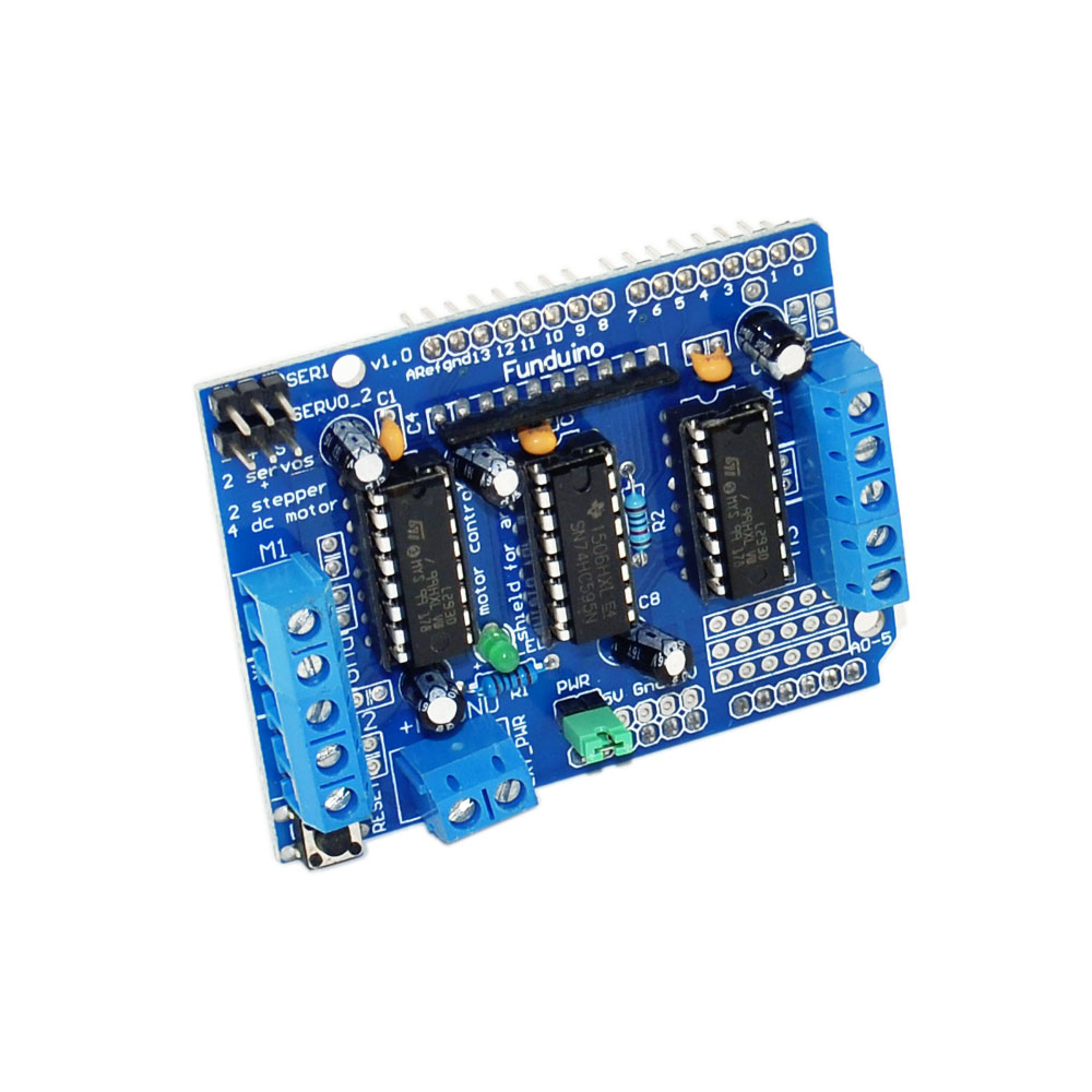 Funduino l293d stepper motor driver board control shield for L293d motor driver module