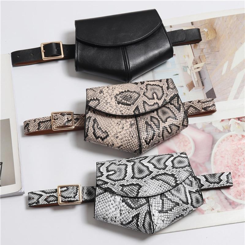 Leather Fanny Pack Women/Ladies Fashion Waist Bag Serpentine Luxury Belt Bag Designer Mini Disco Waist Packs Small Phone Purse