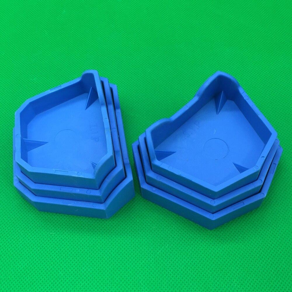 6Pcs/set 3 Sizes Dental Model Base Set Dental Mold Plaster Base Denture Tray Dental Lab Former Base Kit Oral Hygiene Care