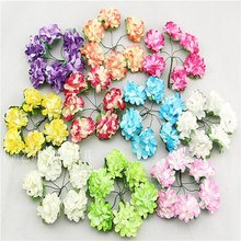 Free shipping mixed color 2.5cm flowers /Wedding / decorative flower /Artificial (72pcs lot )004012001