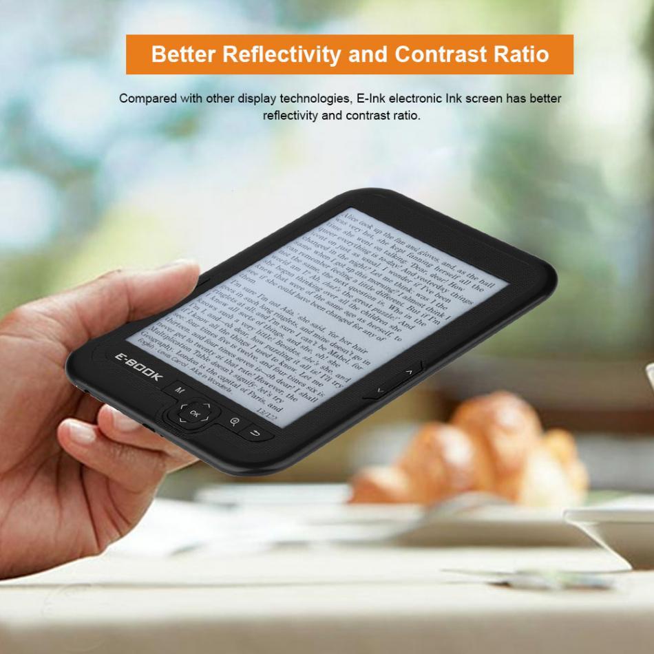 Lecteur d'ebook e-ink nouveau 6 pouces e encre électronique écran d'encre numérique lecteur d'ebook avec étui d'ebook