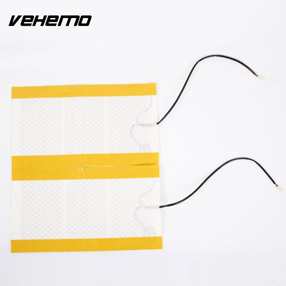 Vehemo Vehemo 2pcs car seat heater pads carbon fiber heating pads car-cover heated seat warmer universal car-styling