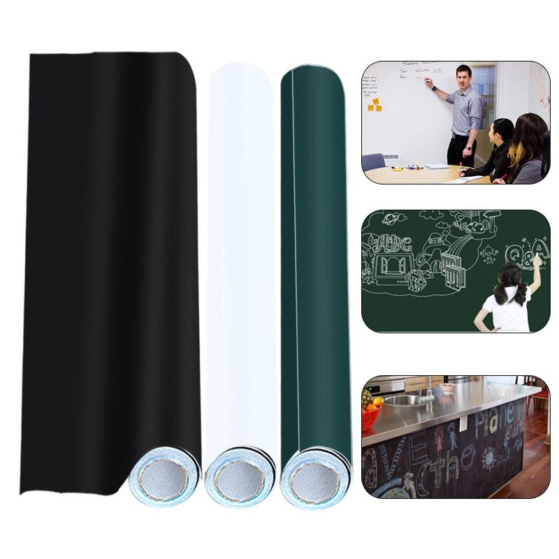 DIY Vinyl Blackboard Sticker Self-adhesive Graffiti Wall Sticker Decal Reusable Erasable Chalkboard Wall Paper For Kids Home