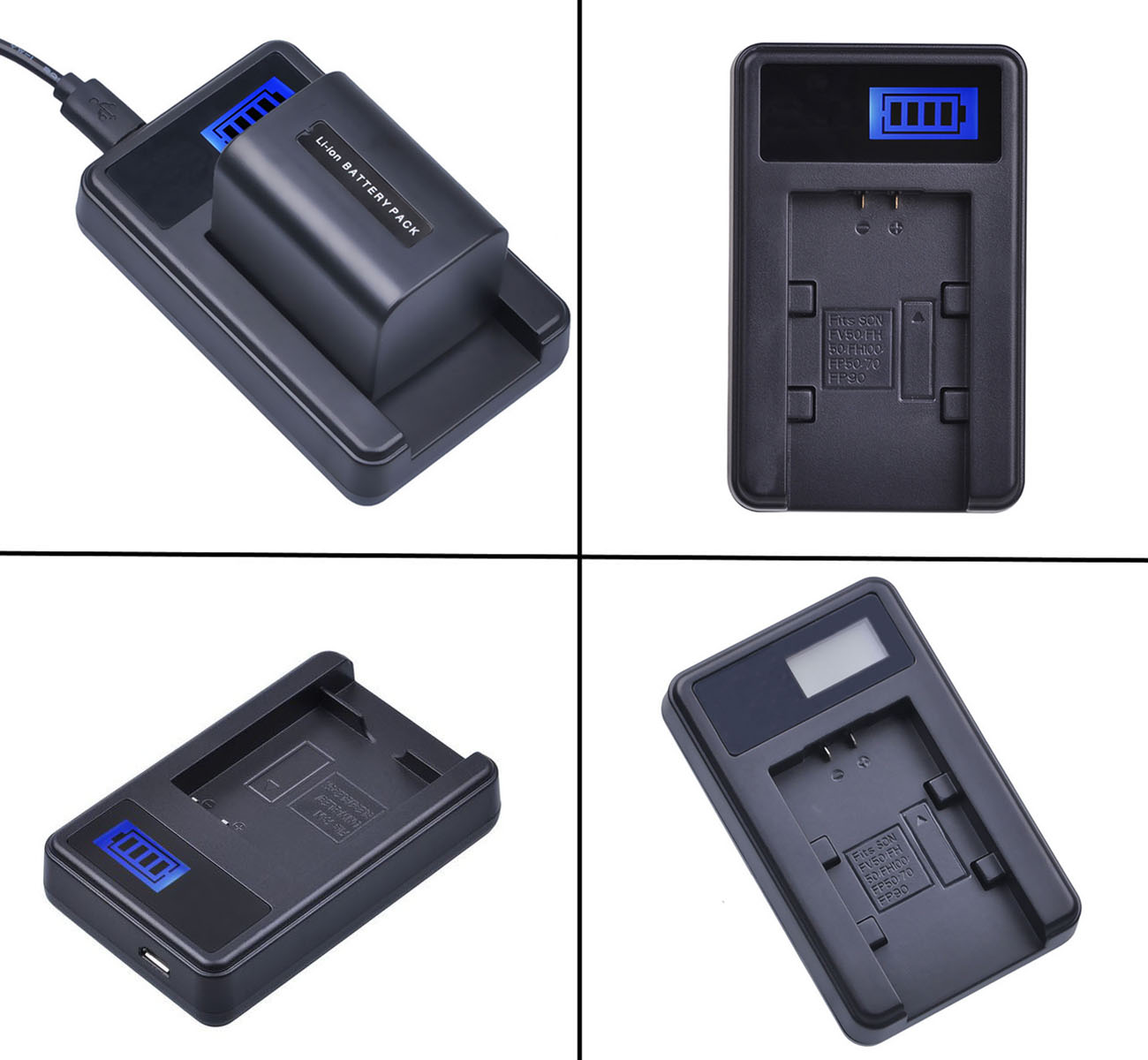 DCR-SX31 LCD Quick Battery Charger for Sony DCR-SX30 DCR-SX41 DCR-SX40 DCR-SX50 DCR-SX60 Handycam Camcorder