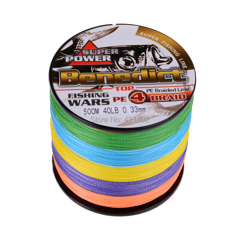 Hot Sale Supper Strong 500m Braided Wires 100 Pe Fiber