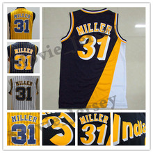 2fd80326a52 La Maxpa Men s New 31  Reggie Miller 13  Steve Nash Jersey 34  Charles  Barkley jersey color yellow white blue basketball jerseys