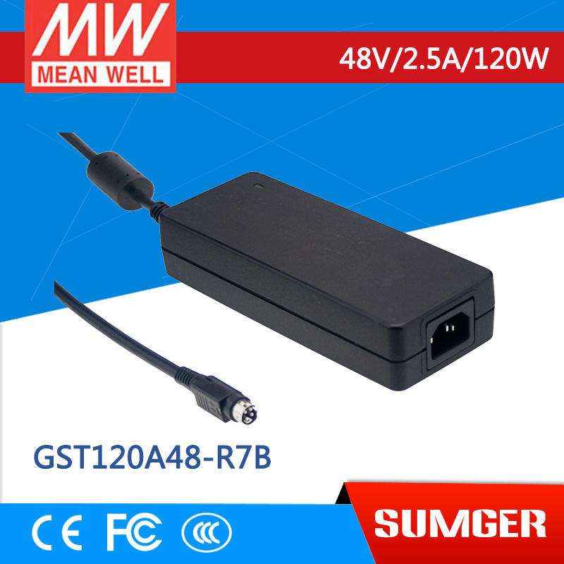 [Sumger2] MEAN WELL original GST120A48-R7B 48V 2.5A meanwell GST120A 48V 120W AC-DC High Reliability Industrial Adaptor [sumger] mean well original gst120a15 r7b 15v 7a meanwell gst120a 15v 105w ac dc high reliability industrial adaptor