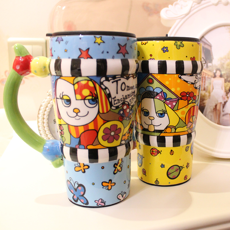 Drinkware Creative Princess Coffee Mug Ceramic Kids Birthday Gifts Personality Stained Drinking Office Handmade Cup In Mugs From Home Garden On