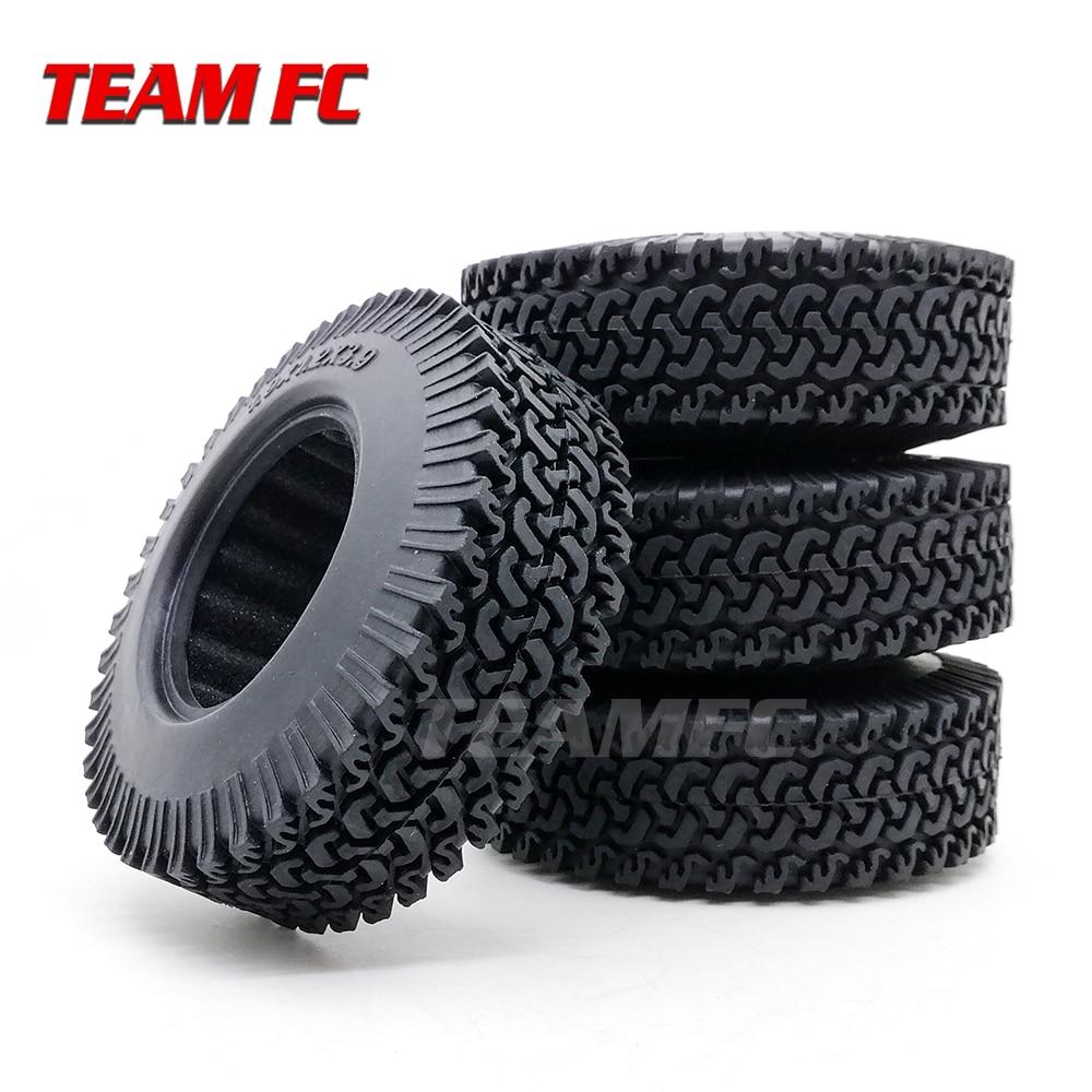4Pcs RC 1:10 Crawler Beadlock Wheels Tire 1.9 Inch Rubber Wheel Tire 98mm Tyre For RC Car Tamiya Truck Axial SCX10 S347