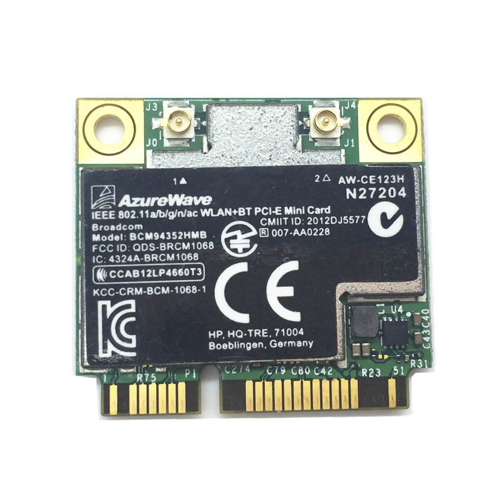 For HP Broadcom BCM94352HMB 4352 AW-CE123H WiFi + Bluetooth BT 4.0 867 Mbps Card 802.11ac SPS 724935-001