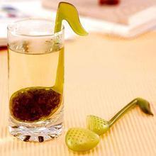 Музыкальная нота Мода удобство чайный лист ложка-ситечко чайная ложка заварочный фильтр чайные заварки кухня, столовая и бар