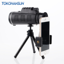 TOKOHANSUN Universal 40X Optical Zoom Telescope Telephoto Mobile Phone Camera Lens For iPhone Samsung Android Smartphones lenses tokohansun hd mobile phone telephoto lens 12x zoom telescope camera lenses with clip for iphone 6s 5s 7 8 huawei xiaomi samsung