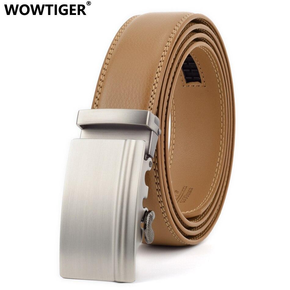 WOWTIGER Designer De Luxe en cuir hommes ceinture 3.5 cm taille sangle mâle  automatique boucle ceintures 7951a73bf41