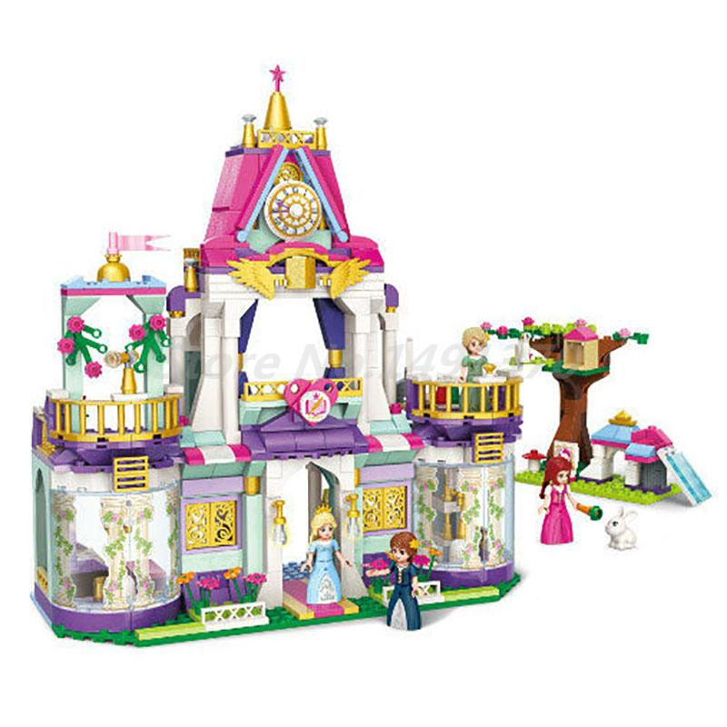 Enlighten Girls Friends Building Block Princess Leah Royal Wisdom School 4 Figures 628pcs Bricks Toy For Girl Christmas Gifts princess ponies 6 best friends for ever