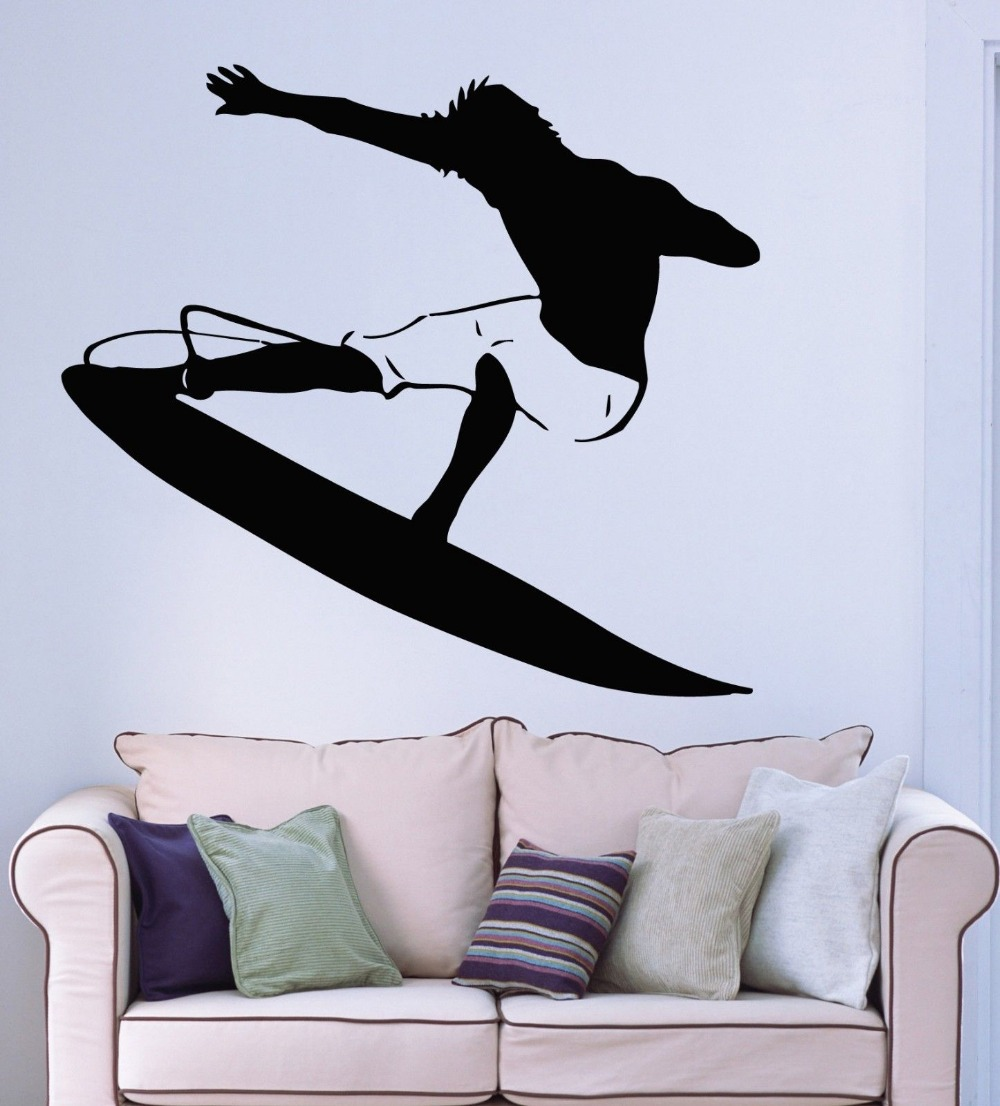 online get cheap surf decor aliexpress com alibaba group new arrival free shipping diy wallpaper surf sticker surfing decal posters vinyl wall decals home decor mural surf sticker