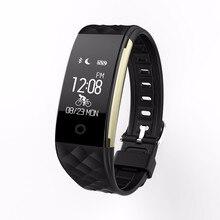 Водонепроницаемый Bluetooth Smart Браслет Беспроводные устройства для IOS Huawei Sony Xiaomi Samsung сердечного ритма Мониторы Смарт Группа Браслет