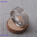 Hot Sale Fashion Punk Jewelry Men Stainless Steel Bible Lord's Prayer Cross Finger Rings CXSOR186