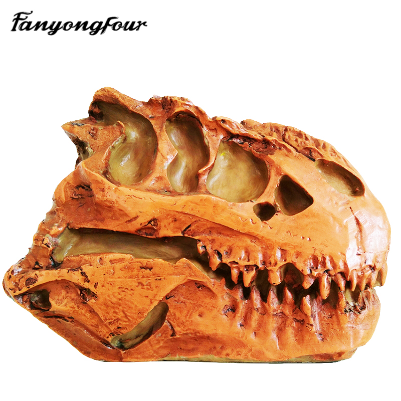 Dinosaur Fossil Skull Mousse Cake Mold Chocolate Pudding Jelly Silicone Mold Kitchen Bread Decoration Tools Plaster