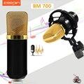 Zeepin BM700 Конденсатор Звукозаписи Микрофон с 3.5 мм Проводной Шок Крепление для Радио Braodcasting
