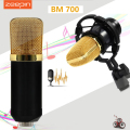 Zeepin BM700 Condenser Sound Recording Microphone with 3.5mm Wired Shock Mount for Radio Braodcasting