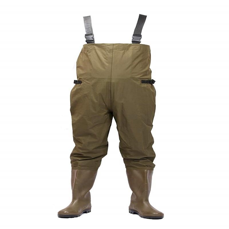 70D Nylon Chest Waders Fishman Hip Waders Orange PVC Fishing Clothing 100 Waterproof