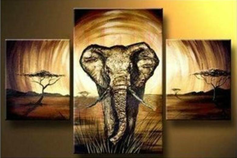Achetez En Gros éléphant Peinture à L'huile En Ligne à Des