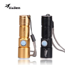 3 Mode Mini USB Rechargeable LED Flashlight High-quality Powerful Mini Cree LED Torch XML Waterproof Lamp Built-in Battery