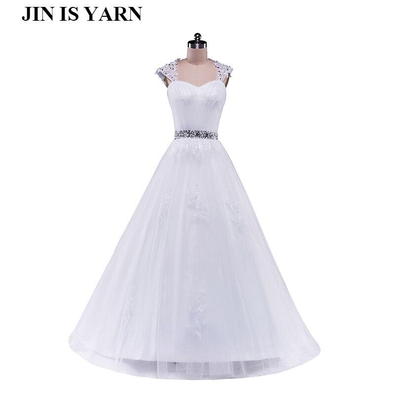 2015 נתיק יהלומי מחוך לבן שנהב פורמליות חרוזים שמלות כלה קריסטל סיטונאי 2016 שמלת הכלה plus גודל אלגנטי