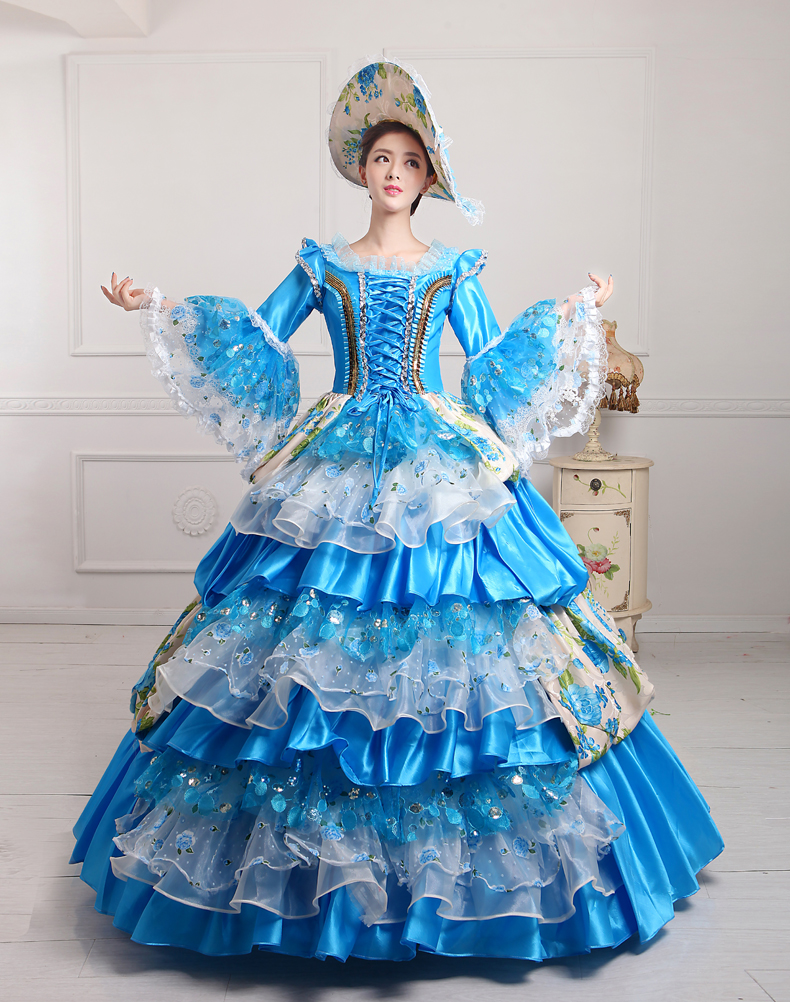 Popular victorian wedding dresses buy cheap victorian wedding - Medieval Wedding Dress Renaissance Victorian Lolita Ball Gown Rococo Dress Party Costumes Clothing China
