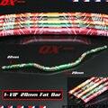"""Motorcycle Motocross Aluminum 1 1/8"""" 28mm Handlebars Handle Tubes Fat Bars For KX KLX KXF KLR NSR Dirt Bike MX Off Road"""