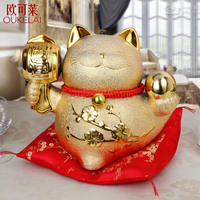 Lucky Cat Cat Ornaments Ceramic Piggy Piggy Gift Gift Shop Store Opened