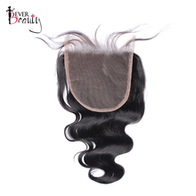 Ever Beauty Brazilian Body Wave 5×5 Lace Closure Bleached Knots Human Non-remy Hair Free Shipping