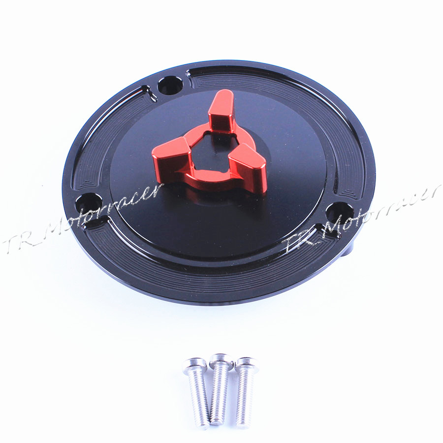 One PCS Motorcycle Aluminum Keyless Fuel Gas Tank Cap For Most of Suzuki Bike Black&Red Motor Accessories high quality motorcycle parts aluminum alloy gas fuel petrol tank cap cover fuel cap for honda cbr 929 954 rc51 all years