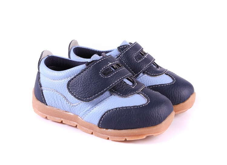SandQ baby Boys sneakers soccers shoes girls sneakers Children leather shoes pink red black navy genuine leather flexible sole 4